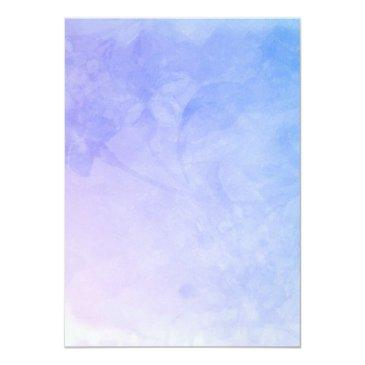 Small Watercolor Feathers On Bluish Purple Wedding Back View