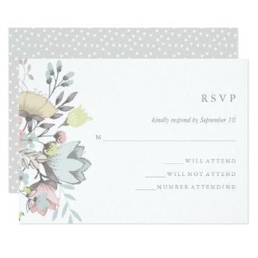 watercolor floral botanical wedding rsvp