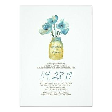 watercolor floral rehearsal dinner