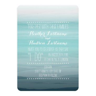 watercolor inspired ombre wedding - teal