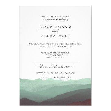 watercolor mountains | elegant wedding