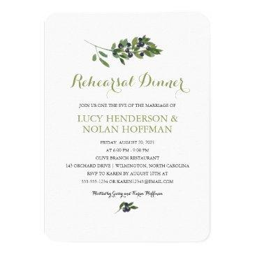 watercolor olive orchard | rehearsal dinner invitations