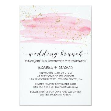 watercolor pink blush and gold wedding brunch