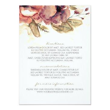 watercolor vintage floral wedding information
