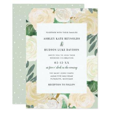 watercolor wedding  | neutral blooms