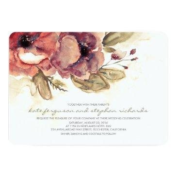watercolors - floral vintage elegant wedding