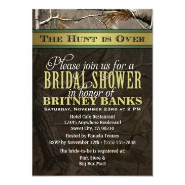 wedding hunting camo bridal shower