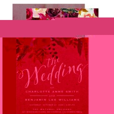 wedding invitation | elegant floral rustic boho