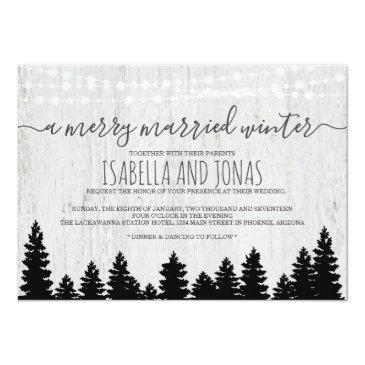 wedding invitation | rustic winter