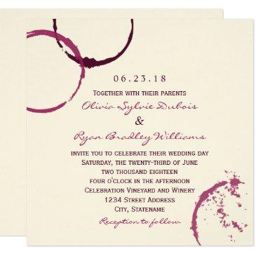 wedding invitations | wine stain rings