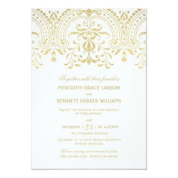 Small Wedding  | Gold Vintage Glamour Front View