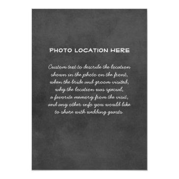 Small Wedding Photo Table Number Cards | Chalkboard Back View