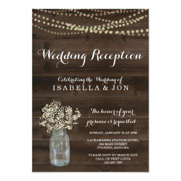 Small Wedding Reception Only Invitation | Rustic Front View