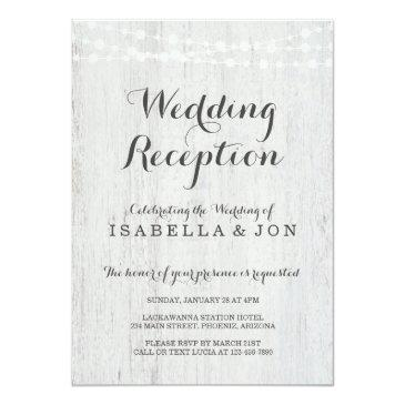 wedding reception only invitations, rustic romantic invitations