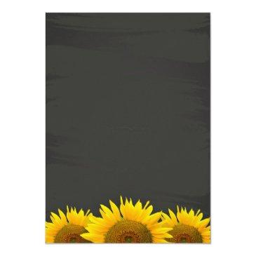 Small Wedding Rehearsal Dinner Sunflowers Chalkboard Back View
