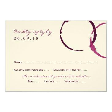 wedding reply  | wine stain rings