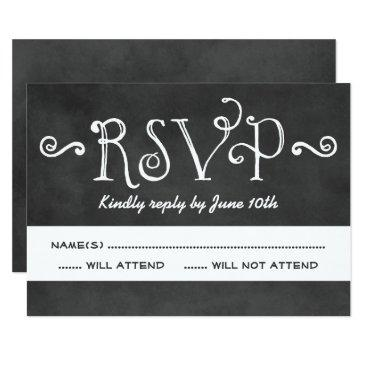 wedding rsvp  | black chalkboard charm