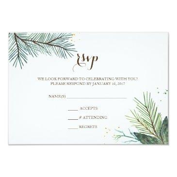 wedding rsvp  winter wreath
