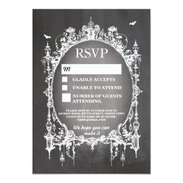 Small Wedding Rsvp Gothic Frame Rustic Halloween Front View
