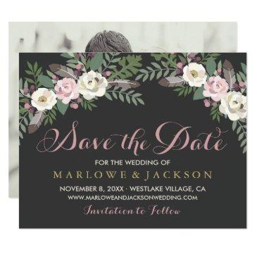 wedding save the date  | fall vintage boho