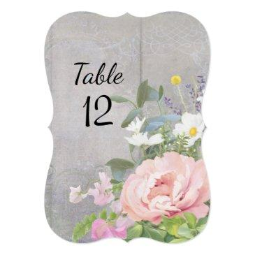 wedding table number family rustic floral elegant