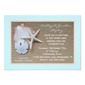 Small Wedding Vow Renewal Beach Burlap Look Front View