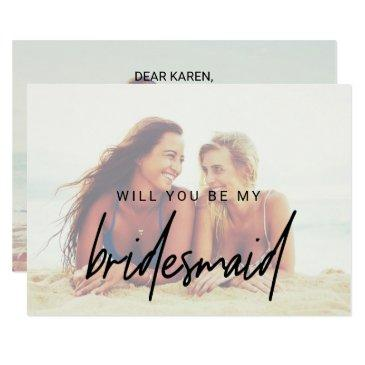 whimsical calligraphy   faded photo bridesmaid