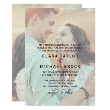 whimsical calligraphy | faded photo formal wedding