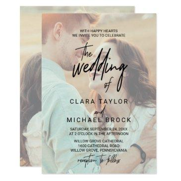 whimsical calligraphy | faded photo the wedding of