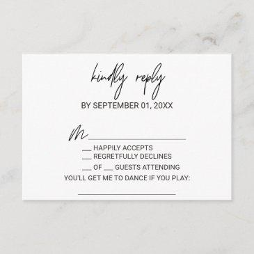 whimsical calligraphy song request rsvp