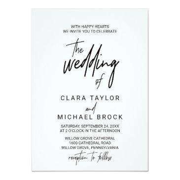 whimsical calligraphy the wedding of invitation