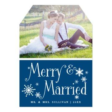 whimsical merry & married holiday photo flat