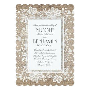 Small White Floral Lace Rustic Wedding Front View