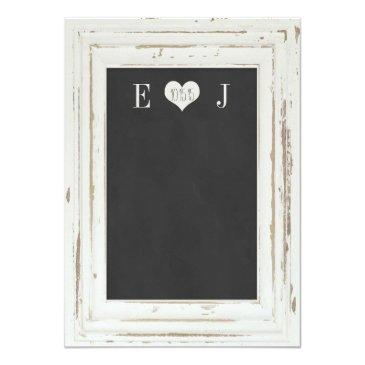 Small White Rustic Frame Chalk Wedding Back View