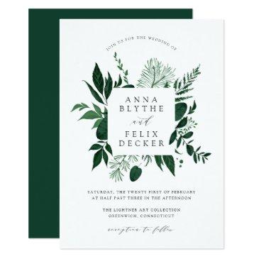 wild forest frame wedding