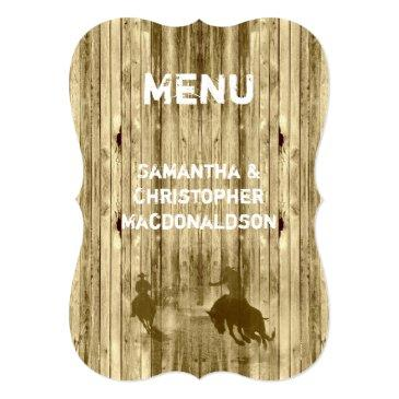 wild west western cowboy country wedding menu