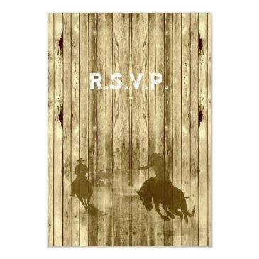 wild west western cowboy wedding r.s.v.p