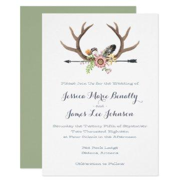 wildflower arrow and antlers wedding