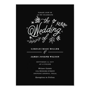 Small Wildflower Wedding Invitations Front View