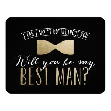 Small Will You Be My Best Man? | Groomsmen Invitation Front View
