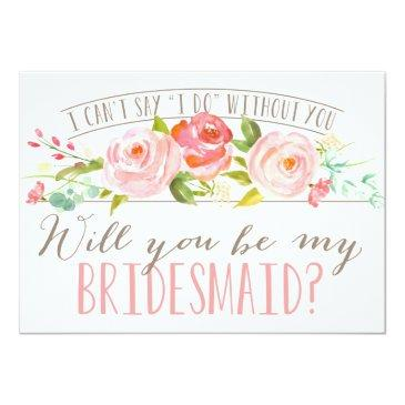 Small Will You Be My Bridesmaid | Bridesmaid Invitationss Front View