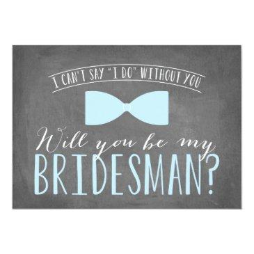 Small Will You Be My Bridesman? Invitation Front View
