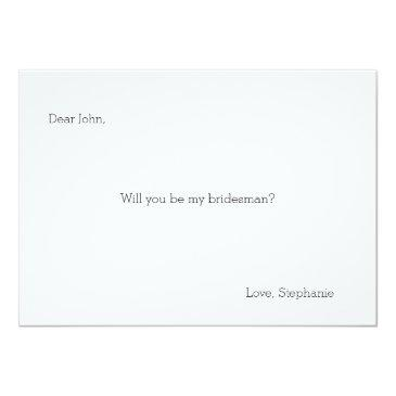 Small Will You Be My Bridesman? Invitation Back View
