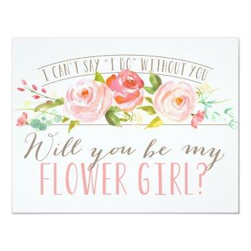 will you be my flower girl | bridesmaid