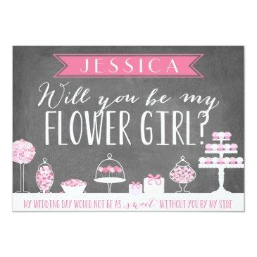 Small Will You Be My Flower Girl | Bridesmaid Invitation Front View
