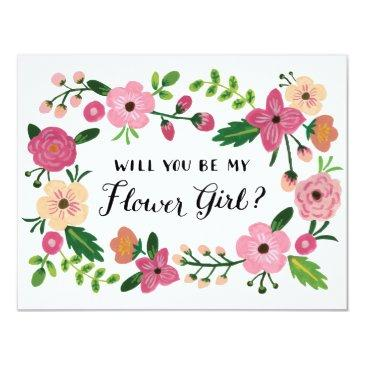 will you be my flower girl floral