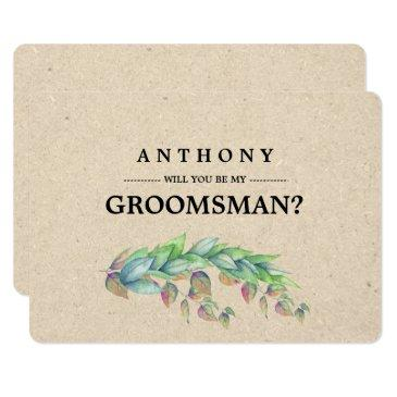will you be my groomsman? custom