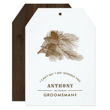 will you be my groomsman? custom rustic invites