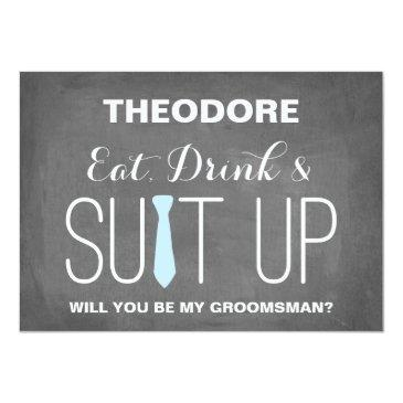 Small Will You Be My Groomsman ? | Groomsmen Front View