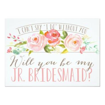 Small Will You Be My Junior Bridesmaid | Bridesmaid Invitation Front View